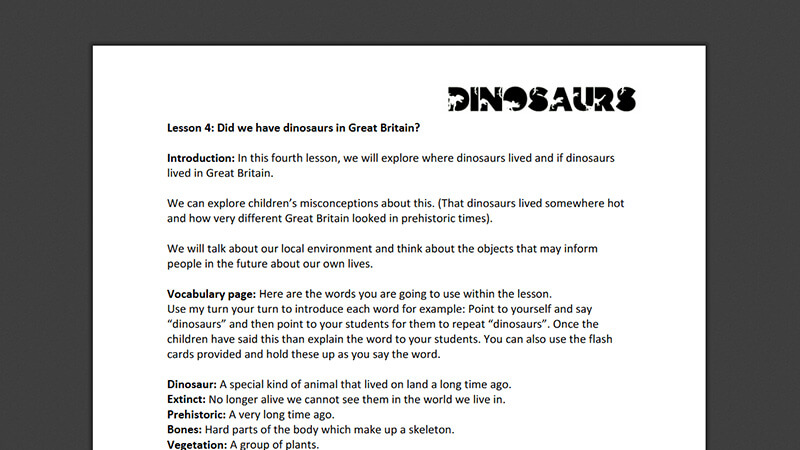 Lesson plan: Did we have dinosaurs in Great Britain?