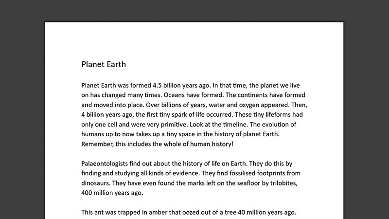 ACTIVEWORKSHEET: Planet Earth
